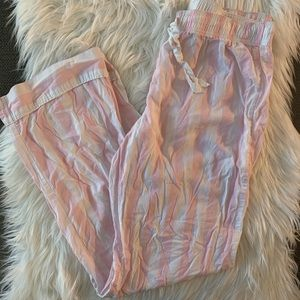 VS Pink/White Striped Sleep pants